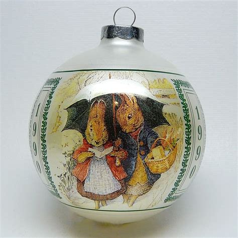 vtg warne beatrix potter christmas ornament rabbits in the