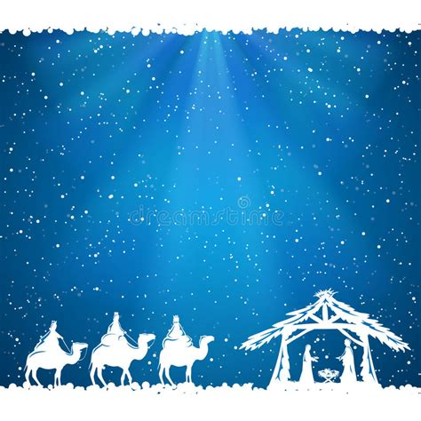 christmas with with christian theme theme on blue background stock vector illustration of bible 59900037