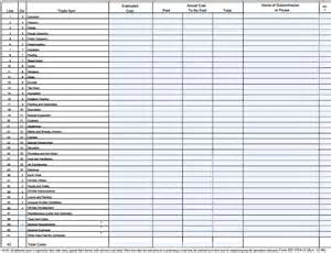 contractor estimate sheet contractor estimate template excel
