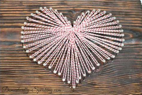 heart pattern string art baker s twine heart domestically speaking