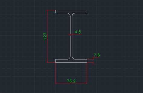Drawing H Beam by I Beam Sizes Free Cad Block Symbols And Cad Drawing