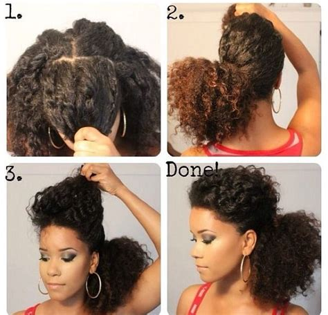 ponytail styles for natural hair messy ponytail natural hairstyles i like pinterest