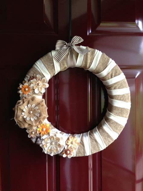 home decor wreaths autumn burlap wreath home decor pinterest wreaths