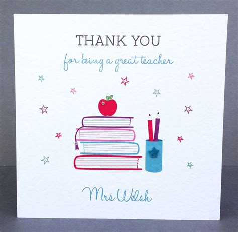 Thank You Card To From Student