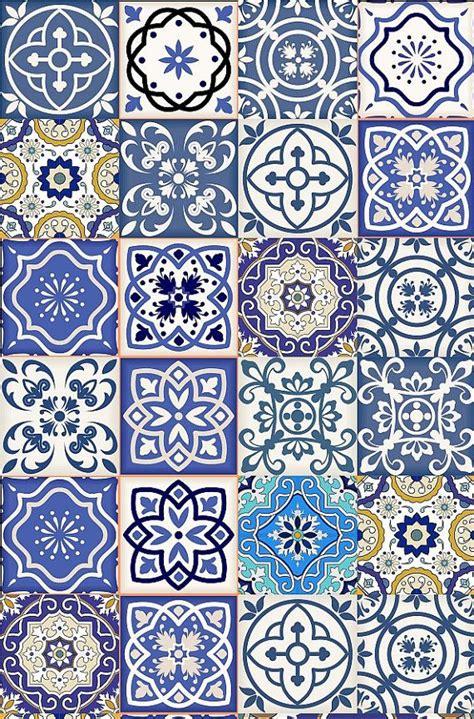 Fliese Vintage Style by Satz 24 Gemischte Fliese Kunst Aufkleber Quadratisch