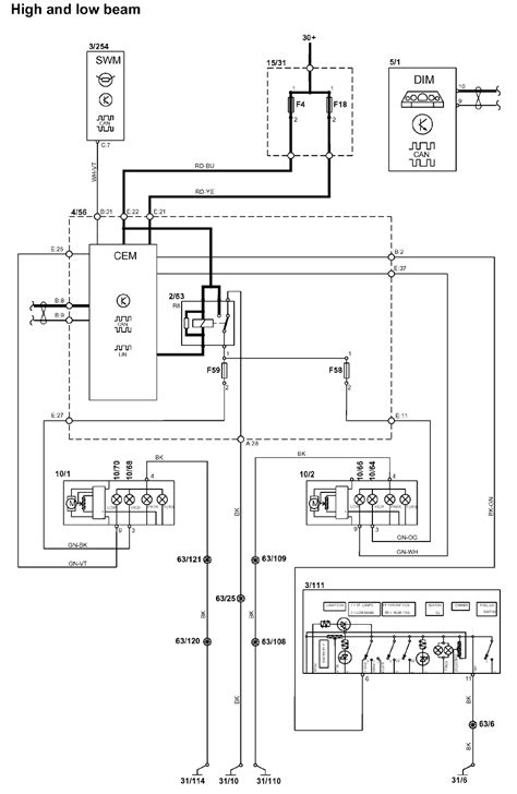 schematic of wiring in roof of 2001 volvo s40 volvo s40