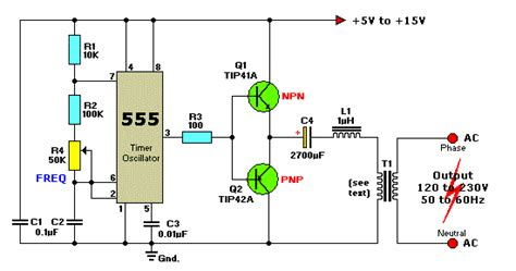 Power Supply Smps 12 Volt Untuk Arduino 12vdc to 220vac inverter circuit using ic 555 koleksi