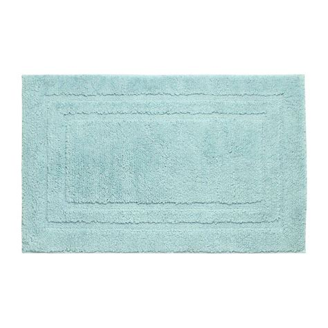 aqua bathroom rugs jean pierre double border aqua 21 in x 34 in bath mat