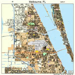 melbourne florida map 1243975