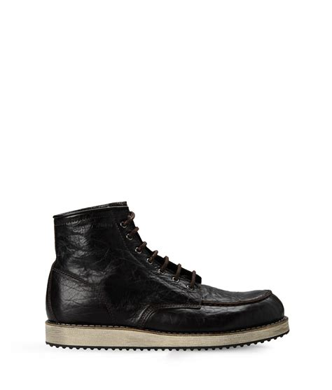 armani boots for lyst emporio armani ankle boots in black for