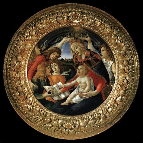 cornice tondo doni file sandro botticelli madonna of the magnificat