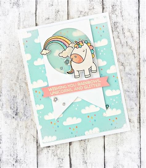 unicorn pop up card template 58 best cards mft magical unicorns images on