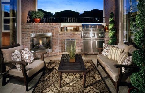 outdoor kitchen with fireplace 30 outdoor kitchen designs ideas design trends