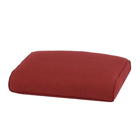 patio ottoman cushions hton bay fall river chili replacement outdoor ottoman