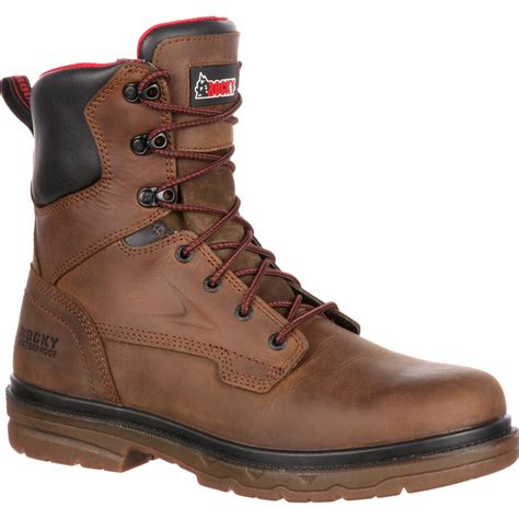 work boots rocky elements shale s steel toe waterproof work boot