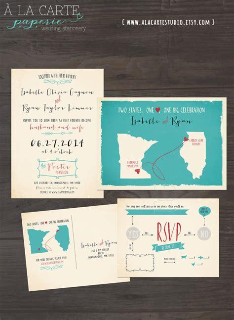 wedding invitation sles usa destination wedding invitation usa two states one bi and program cards usa scroll wedding