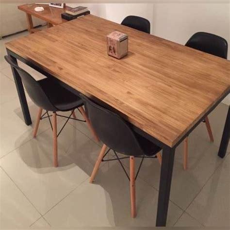 mesas de comedor de madera modernas mesa comedor tipo industrial hierro y madera calidad