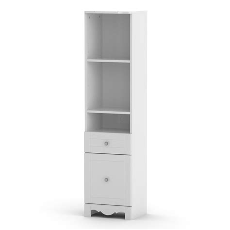 shop nexera pixel white 3 shelf bookcase at lowes