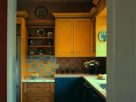 yellow paint shelves tuscan kitchen cabinets pictures ideas amp tips kitchens for from hgtv