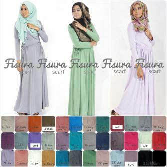 Gamis Dwi Svj 2 koleksi baju dress dan busana muslim terkini gamis basic serut polos by fisura