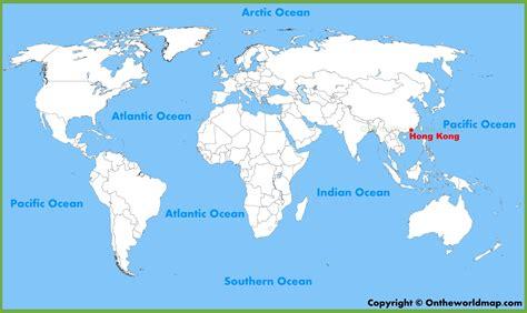 hong kong location   world map