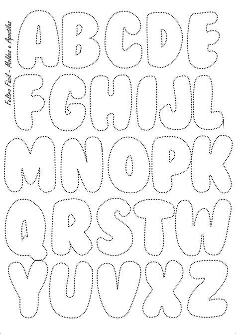 feltro f 225 cil molde do alfabeto felt letters template