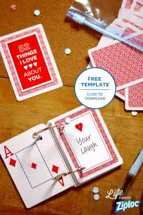deck of cards valentines template turn an deck of cards into a thoughtful s