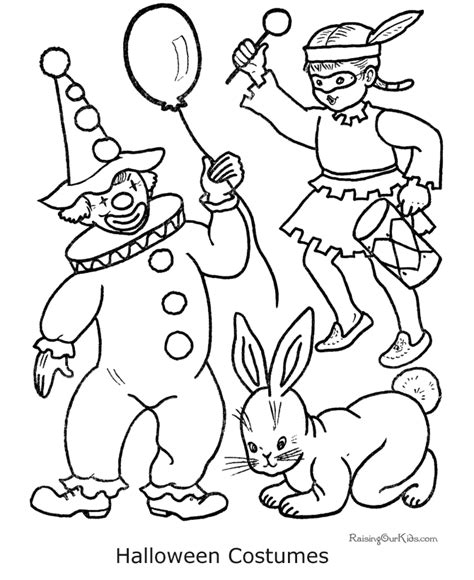 halloween costume coloring pages gypsy girl sketch