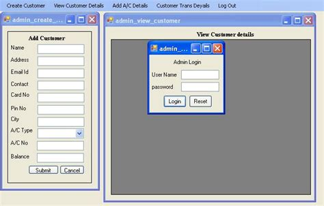 design online banking system atm banking system code with c
