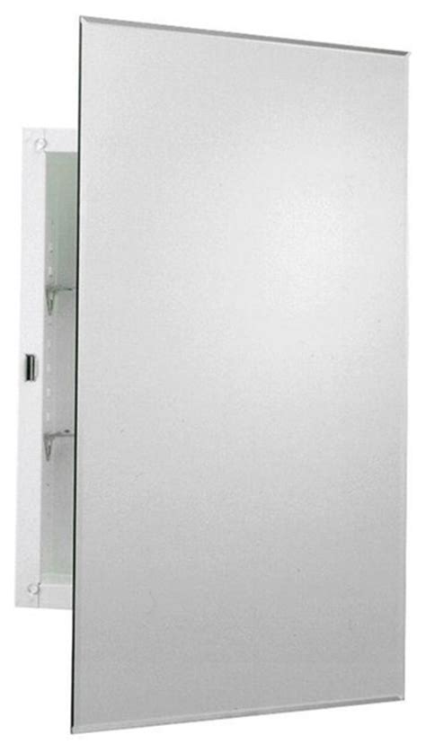 frameless mirrored swing door recessed medicine cabinet