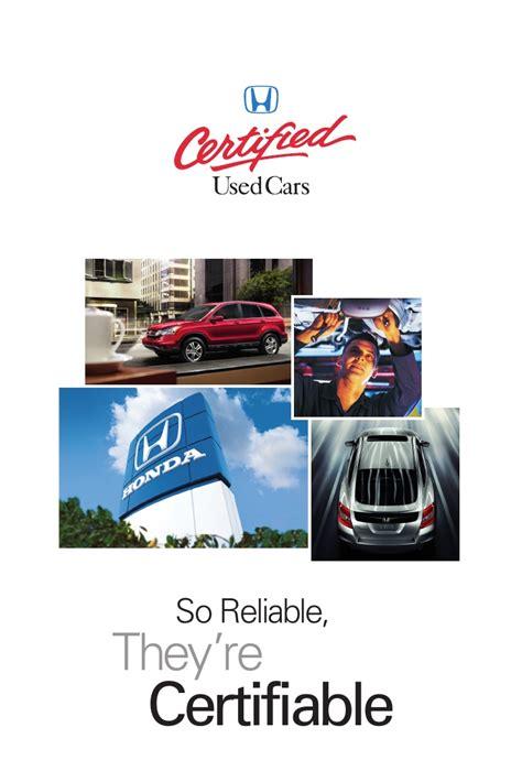 certified pre owned hondas honda certified pre owned brochure