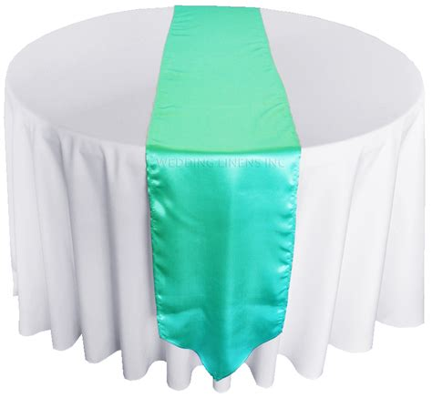 aqua blue table runner blue aqua satin table runners