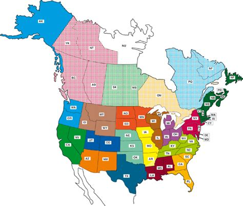 map of usa showing states and canada obryadii00 maps of canada and usa