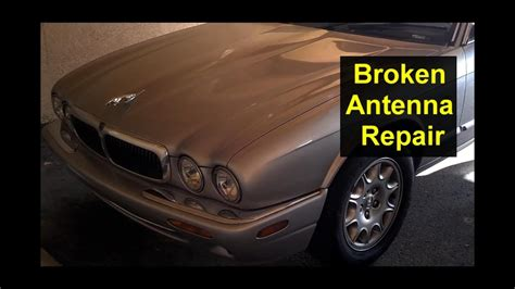 broken power antenna repair   replace  antenna mast auto repair series youtube