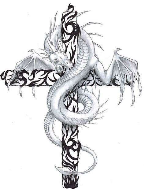 dragon cross tattoo designs 55 cross tattoos designs and pictures