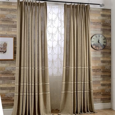linen luxury curtains aliexpress com buy luxury european style linen curtain