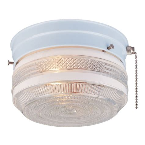 shop portfolio 15 98 in w white flush mount light at lowes 17 best images about 1968 mobile home on single wide countertops and single wide