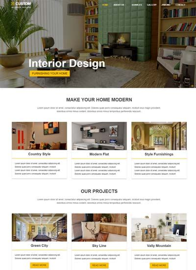 home design websites free responsive bootstrap html web templates