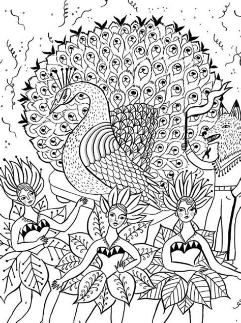 Free coloring pages of rio carnival