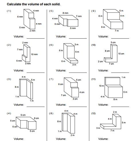 all worksheets 187 calculating volume worksheets printable