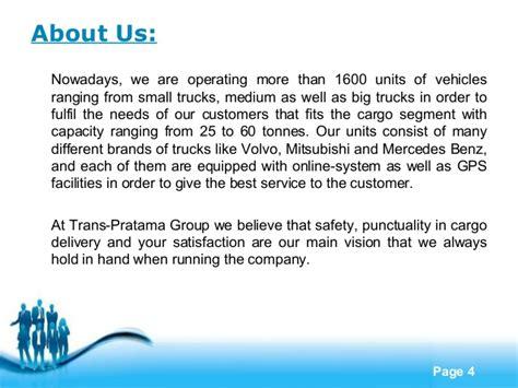 Company Profile Trucking Company Profile Template