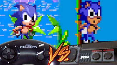 sega genesis master system sega genesis vs sega master system sonic the hedgehog
