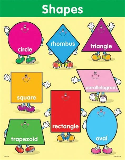 Fig 040 Hexagon Shapes Print Other Colorful - shapes chart hexagons books and charts