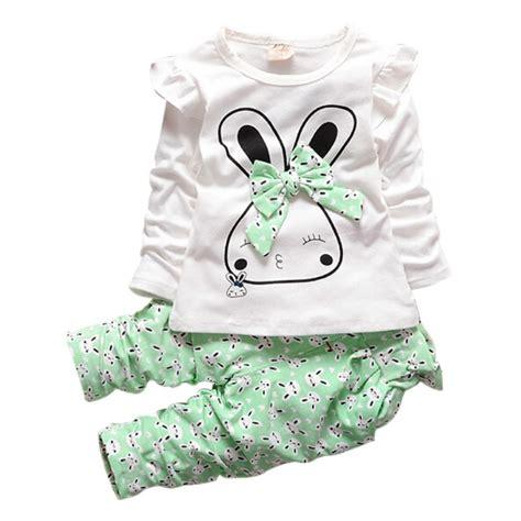 Bunny Set 2pcs 2pcs casual winter lycra bunny bowknot