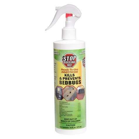 bed spray stop bugging me 16 oz stop bugging me bed bug spray