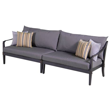 Polywood Sofa by Polywood Black Club Patio Sofa With Bird S Eye Cushions