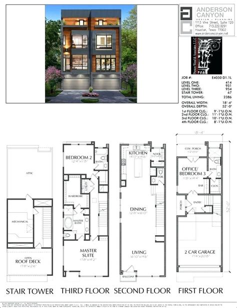 Contemporary Townhouse Plans by Modern Townhouse Plans Duplex Plan House Simple Luxury