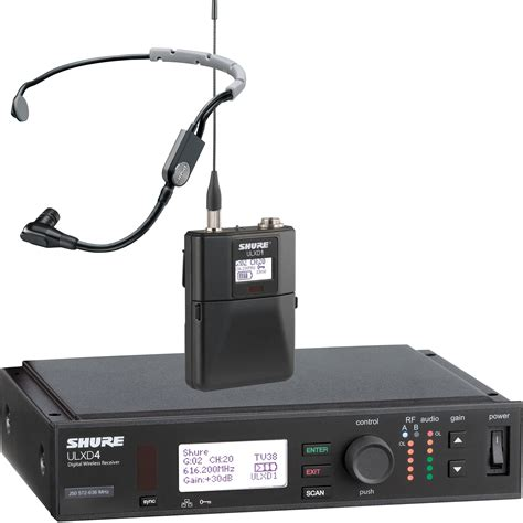 Mic Wireless Shure Ulx 4 B shure ulx d digital wireless headset kit b h photo