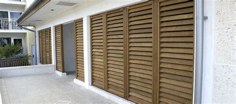 Exterior Wood Louvered Doors Exterior Wood Bahama Shutters And Colonial Shutters In Lake Oswego