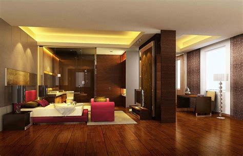 Wood Floors In The Bedroom Download 3d House Bedroom With Parquet Floor